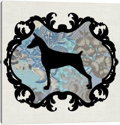 Doberman (Blue&Black) I Canvas Print #OSP50