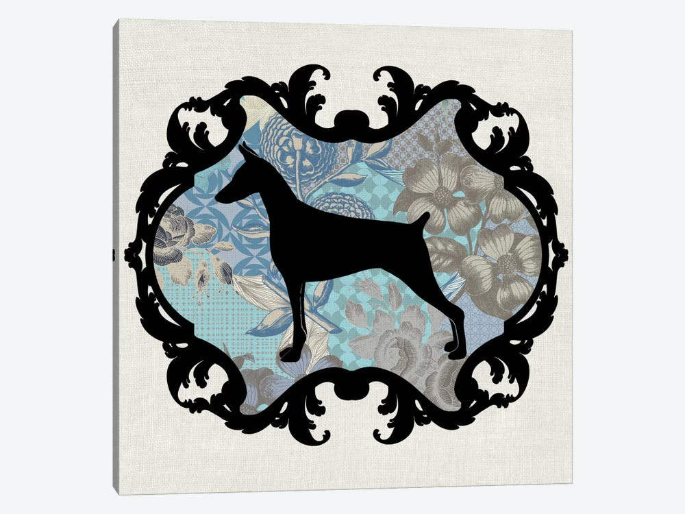 Doberman (Blue&Black) I by 5by5collective 1-piece Canvas Art