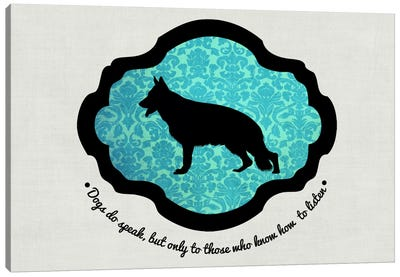 German Shepherd (Black&Blue) I Canvas Print #OSP54