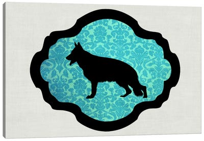 German Shepherd (Black&Blue) II Canvas Art Print
