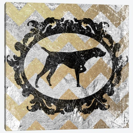 Pointer (Yellow&Gray) Canvas Print #OSP57} by 5by5collective Art Print