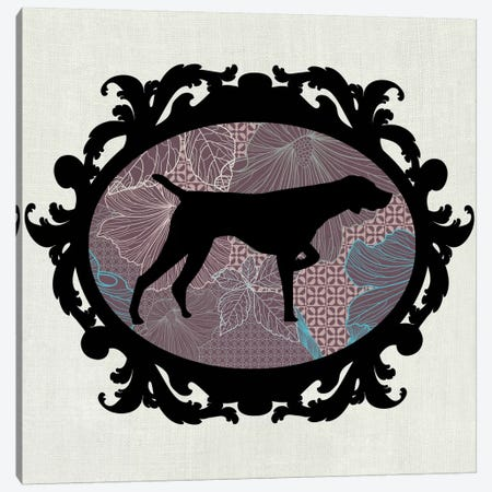 Pointer (Black&Vinous) I Canvas Print #OSP58} by 5by5collective Canvas Artwork