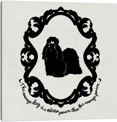 Shih Tzu (Black&White) Canvas Print #OSP5