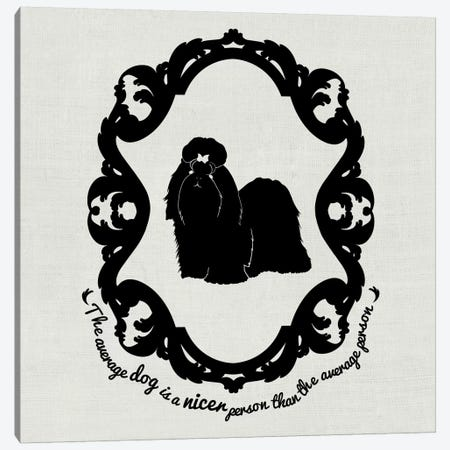 Shih Tzu (Black&White) Canvas Print #OSP5} by 5by5collective Canvas Art