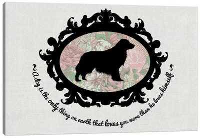 Retriever (Black&Pink) I Canvas Art Print