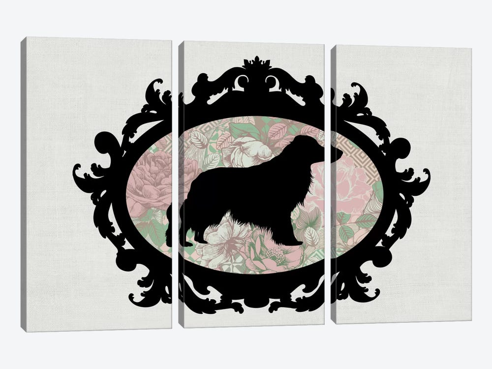 Retriever (Black&Pink) II by 5by5collective 3-piece Canvas Print