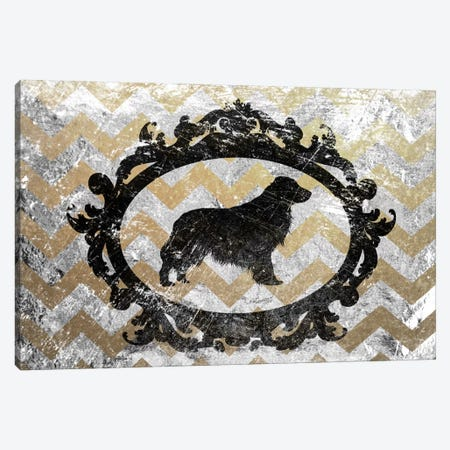 Retriever (Yellow&Gray) Canvas Print #OSP65} by 5by5collective Canvas Art
