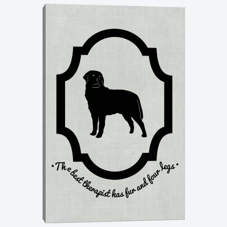 Rottweiler (Black&White) Canvas Print #OSP66} by 5by5collective Canvas Artwork
