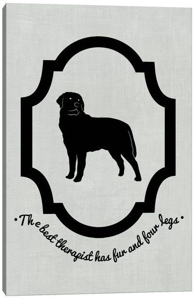Rottweiler (Black&White) Canvas Print #OSP66