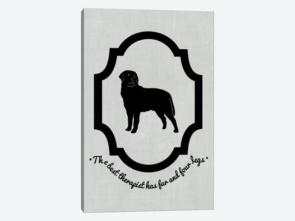 Rottweiler (Black&White) by 5by5collective 1-piece Art Print