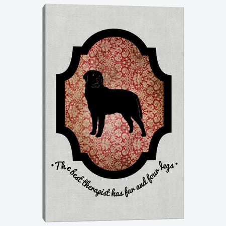 Rottweiler (Black&Red) I Canvas Print #OSP67} by 5by5collective Canvas Wall Art
