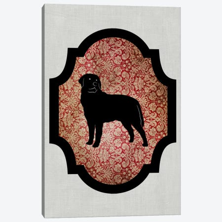 Rottweiler (Black&Red) II Canvas Print #OSP68} by 5by5collective Canvas Print