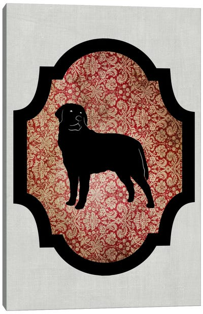 Rottweiler (Black&Red) II Canvas Print #OSP68