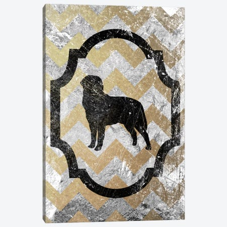 Rottweiler (Gray&Yellow) Canvas Print #OSP69} by 5by5collective Canvas Print