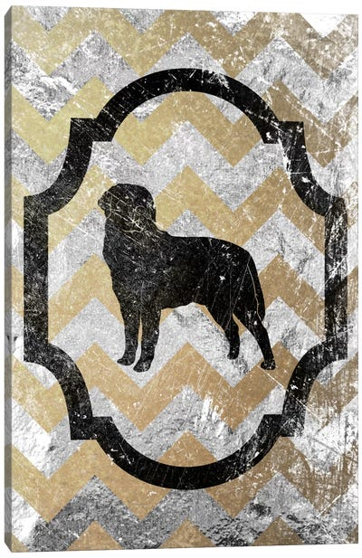 Rottweiler (Gray&Yellow) Canvas Art Print