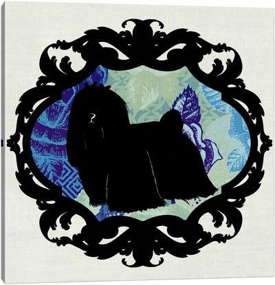 Maltese (Black&Blue) I Canvas Art Print