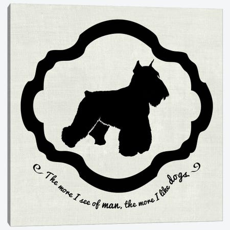 Sealyham Terrier (Black&White) Canvas Print #OSP78} by 5by5collective Canvas Art