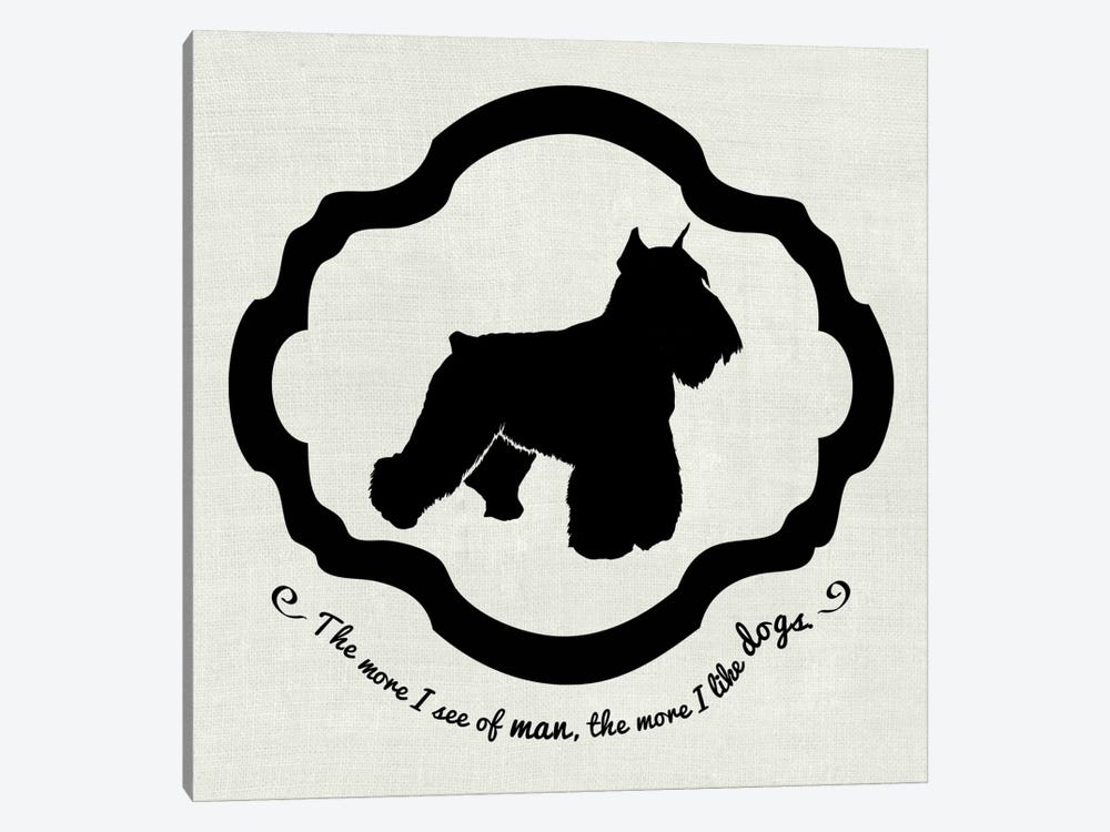 Sealyham Terrier (Black&White) by 5by5collective 1-piece Canvas Wall Art