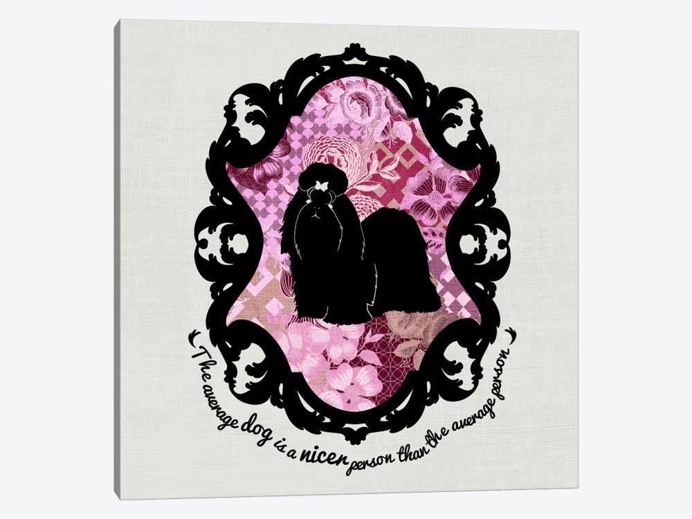Shih Tzu (Pink&Black) II by 5by5collective 1-piece Canvas Artwork