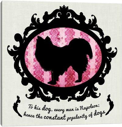 Australian Terrier (Pink&Black) II Canvas Art Print
