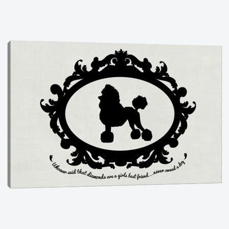 Poodle (Black&White) Canvas Print #OSP85} by 5by5collective Canvas Wall Art