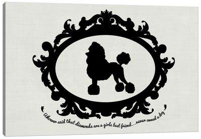 Poodle (Black&White) Canvas Print #OSP85