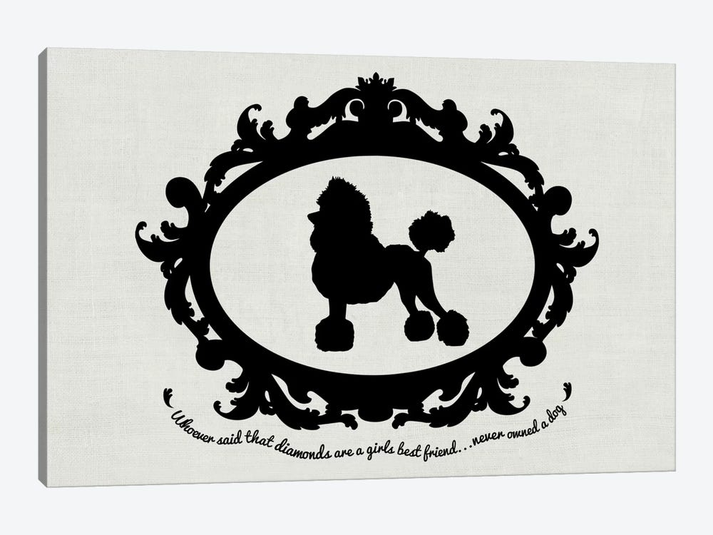 Poodle (Black&White) by 5by5collective 1-piece Canvas Wall Art