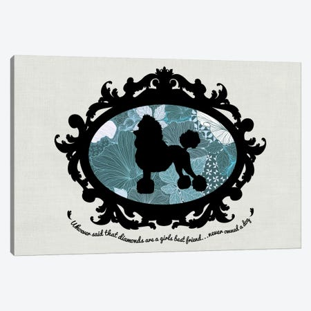 Poodle (Black&Blue) I Canvas Print #OSP86} by 5by5collective Canvas Wall Art