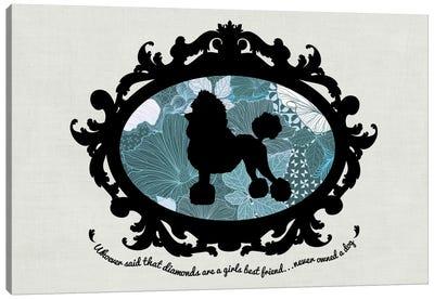 Poodle (Black&Blue) I Canvas Art Print