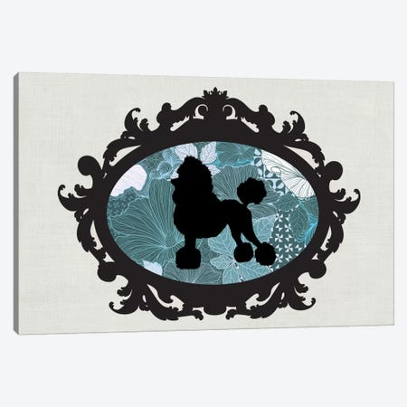 Poodle (Black&Blue) II Canvas Print #OSP87} by 5by5collective Canvas Wall Art
