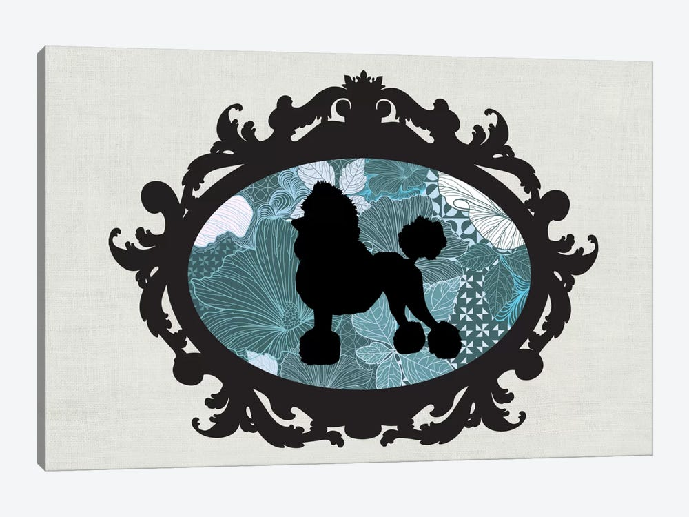 Poodle (Black&Blue) II 1-piece Canvas Wall Art