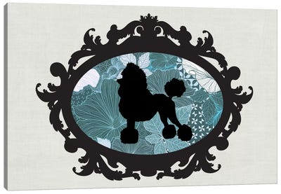 Poodle (Black&Blue) II Canvas Art Print