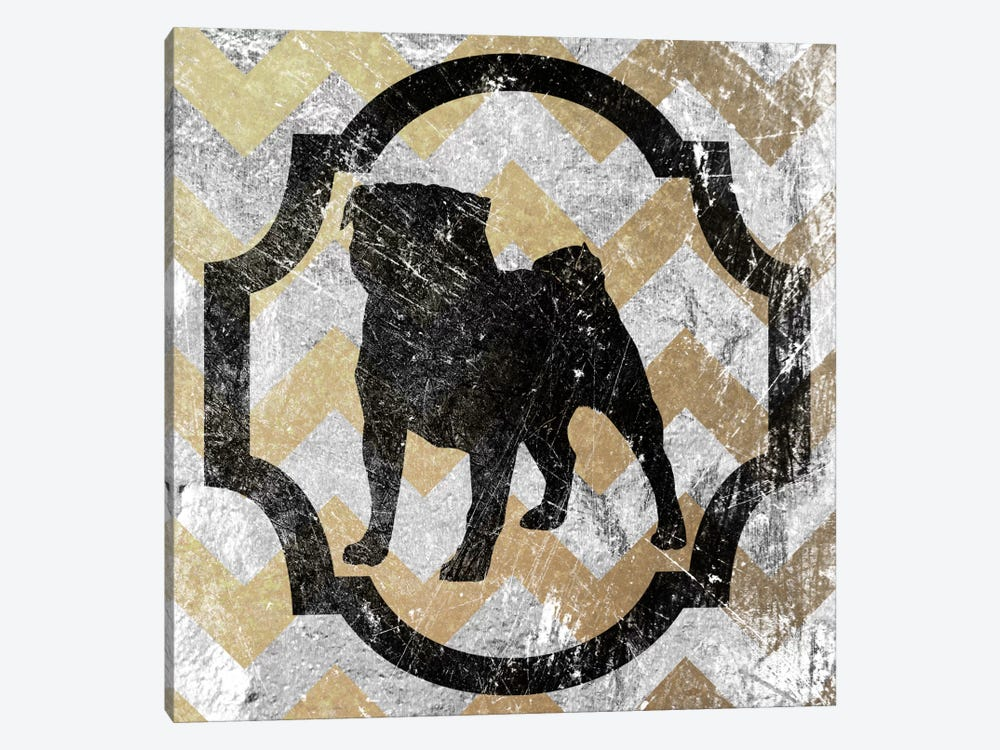 Pug (Gray&Yellow) by 5by5collective 1-piece Canvas Wall Art