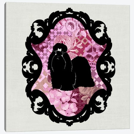 Shih Tzu (Pink&Black) III Canvas Print #OSP8} by 5by5collective Canvas Art Print