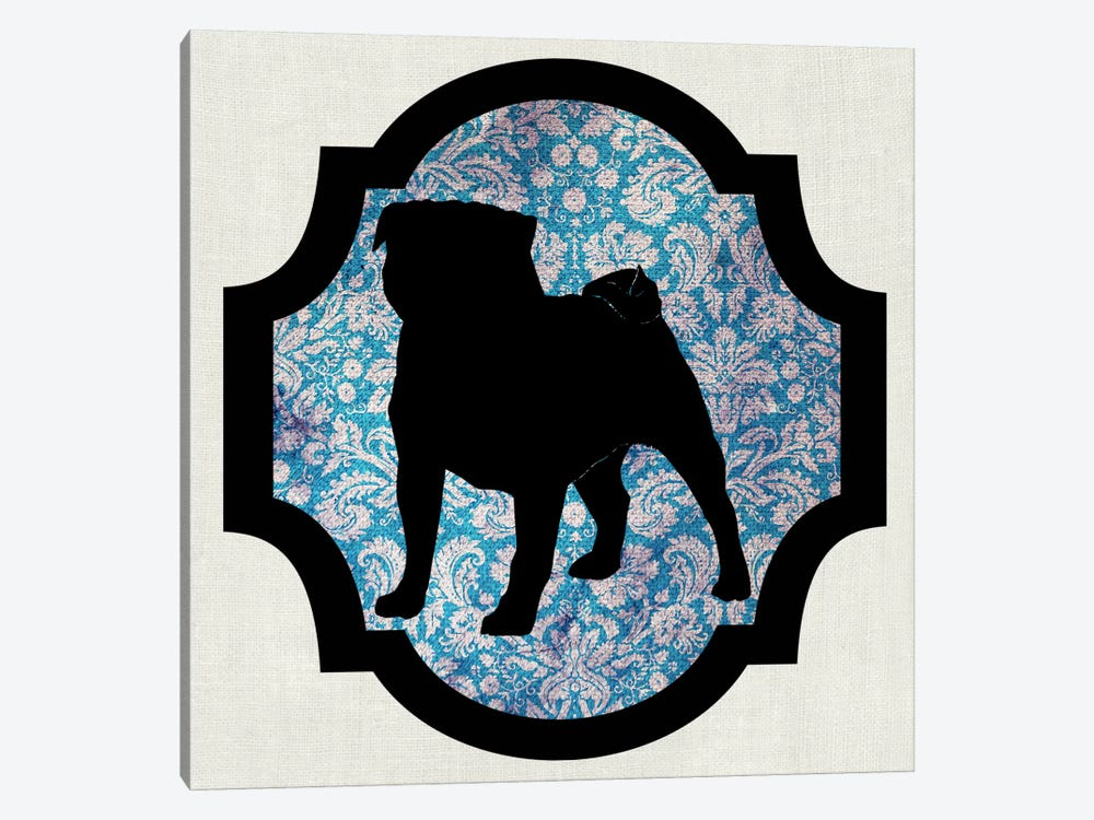 Pug (Black&Blue) II by 5by5collective 1-piece Canvas Wall Art