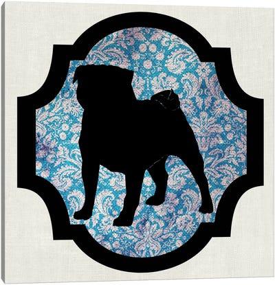 Pug (Black&Blue) II Canvas Art Print
