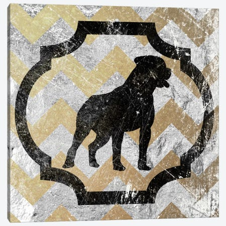 Staffordshire Bull Terrier (Yellow&Gray) Canvas Print #OSP95} by 5by5collective Art Print