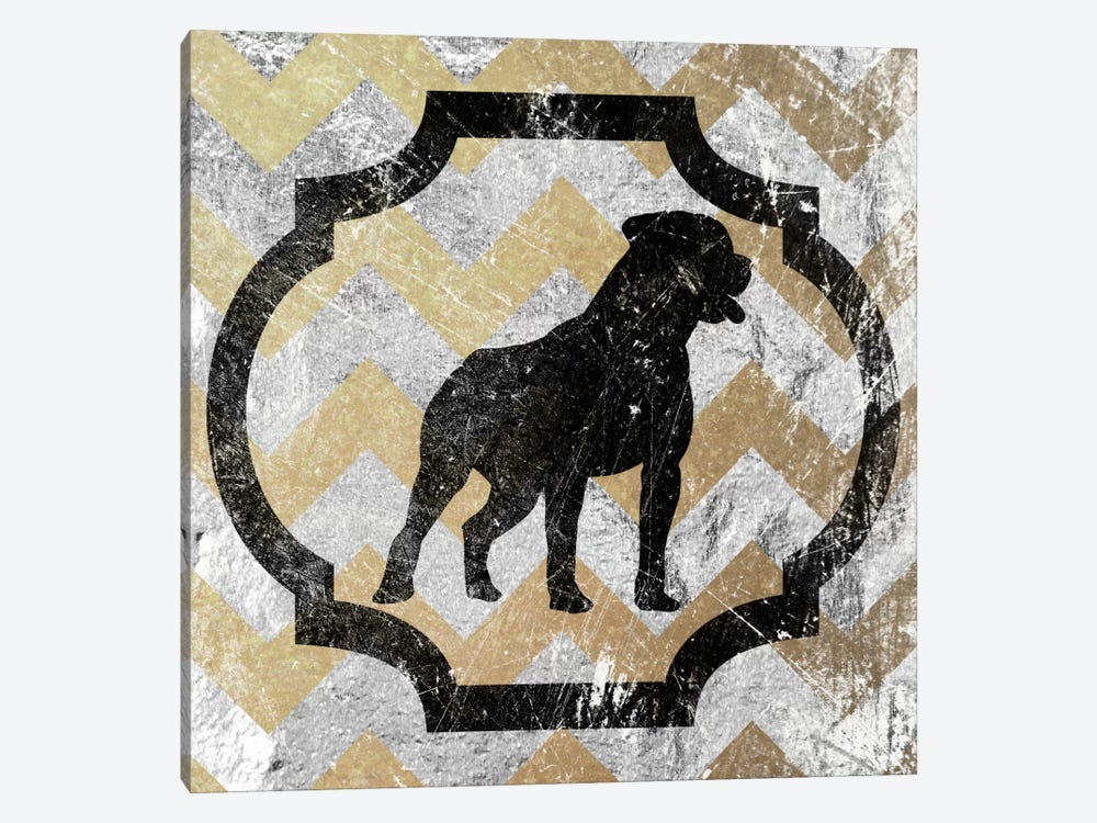Staffordshire Bull Terrier (Yellow&Gray) by 5by5collective 1-piece Art Print