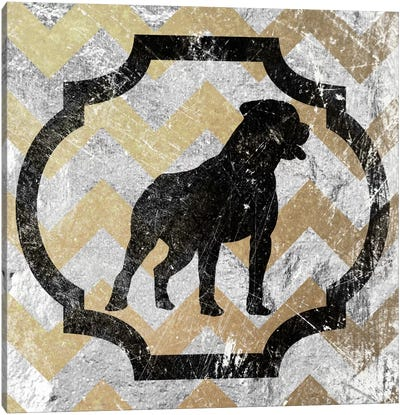 Staffordshire Bull Terrier (Yellow&Gray) Canvas Art Print