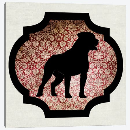 Staffordshire Bull Terrier (Black&Red) I Canvas Print #OSP96} by 5by5collective Canvas Print