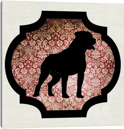 Staffordshire Bull Terrier (Black&Red) I Canvas Art Print