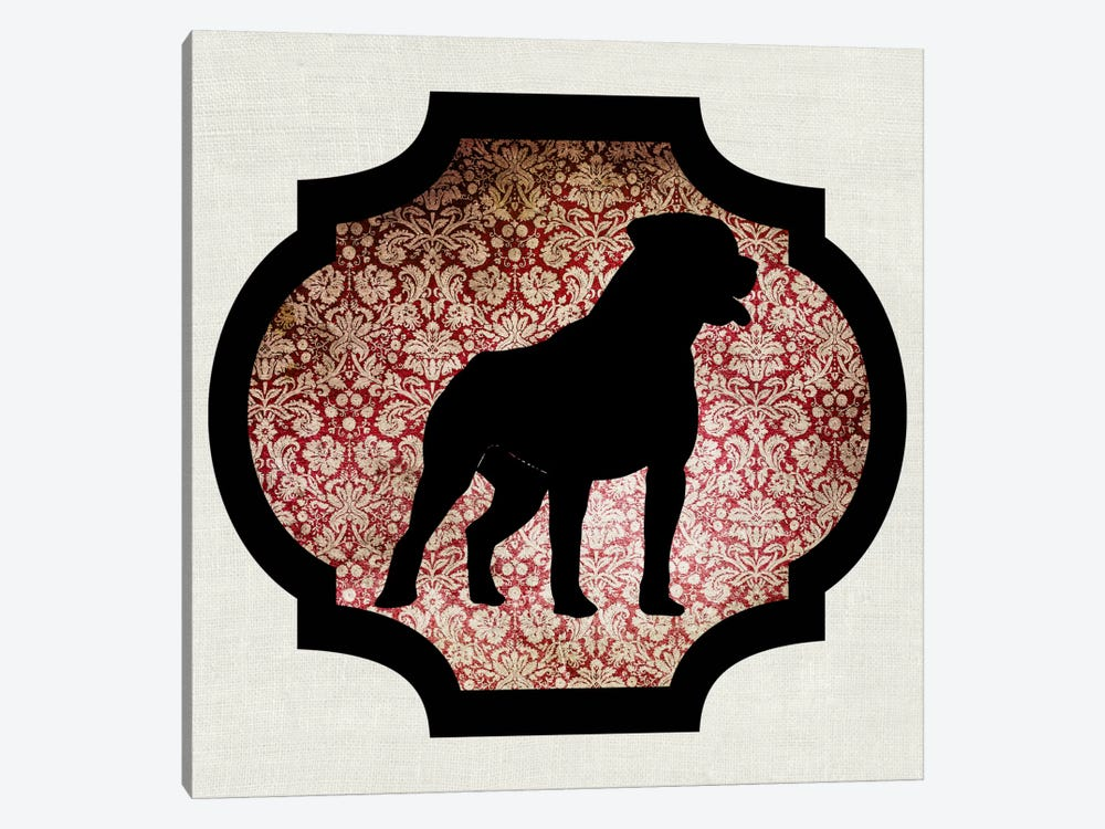 Staffordshire Bull Terrier (Black&Red) I by 5by5collective 1-piece Canvas Art
