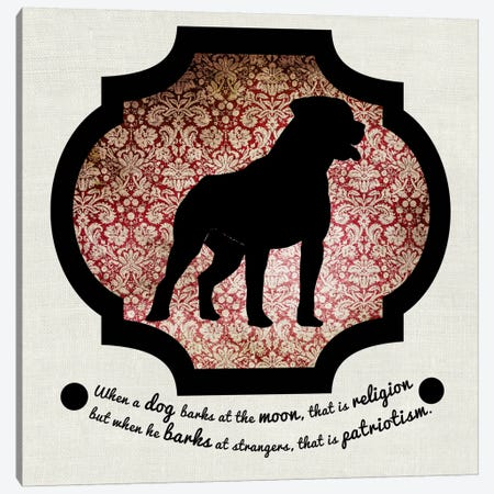 Staffordshire Terrier (Black&Red) II Canvas Print #OSP97} by 5by5collective Canvas Art Print