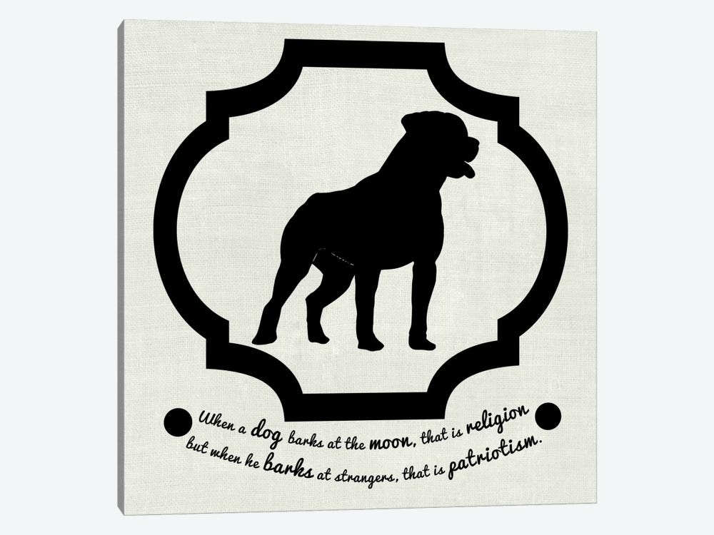 Staffordshire Terrier (Black&White) by 5by5collective 1-piece Canvas Art