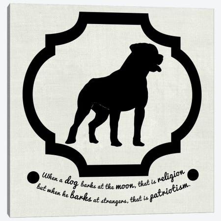 Staffordshire Terrier (Black&White) Canvas Print #OSP98} by 5by5collective Canvas Artwork