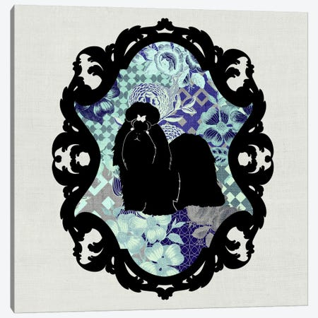 Shih Tzu (Black&Blue) Canvas Print #OSP9} by 5by5collective Art Print