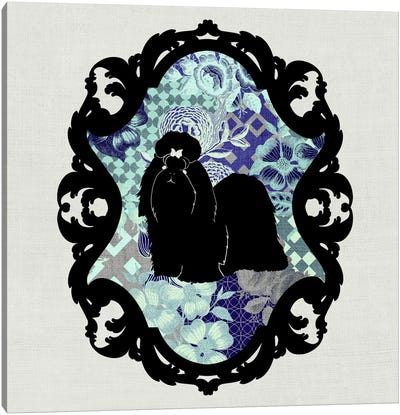 Shih Tzu (Black&Blue) Canvas Art Print