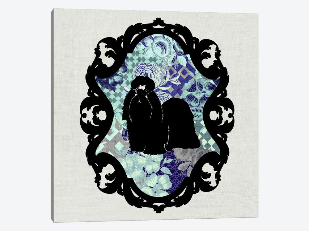 Shih Tzu (Black&Blue) by 5by5collective 1-piece Canvas Wall Art