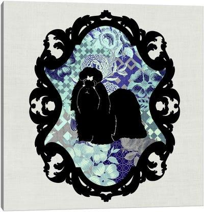 Shih Tzu (Black&Blue) Canvas Art Print