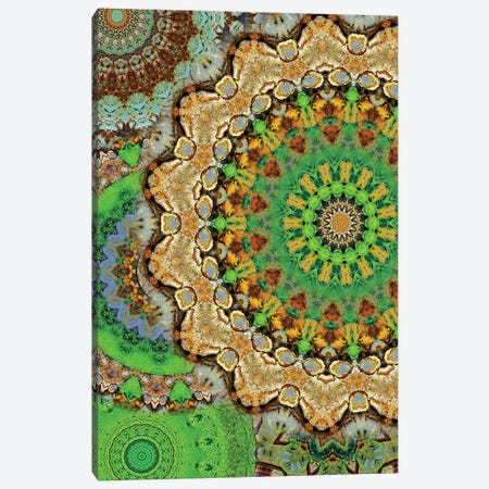 Zelena Mandala Canvas Print #OST137} by LuAnn Ostergaard Canvas Art Print
